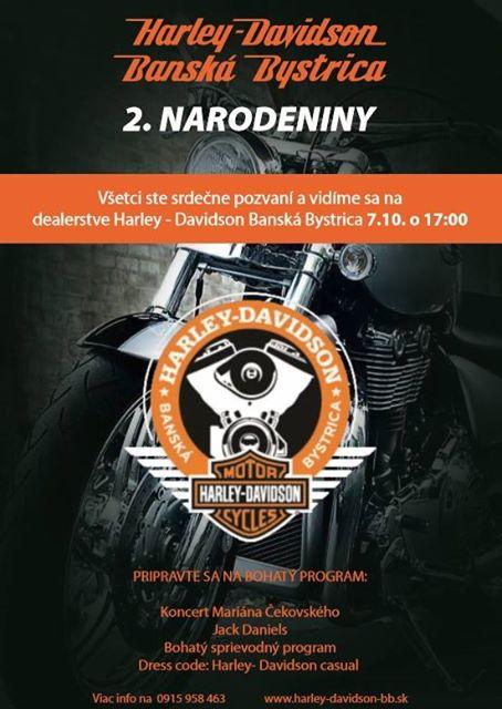 pozvánka: 2.narodeniny Harley-Davidson Banská Bystrica