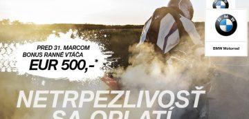 500 EUR na doplnky, alebo oblečenie BMW