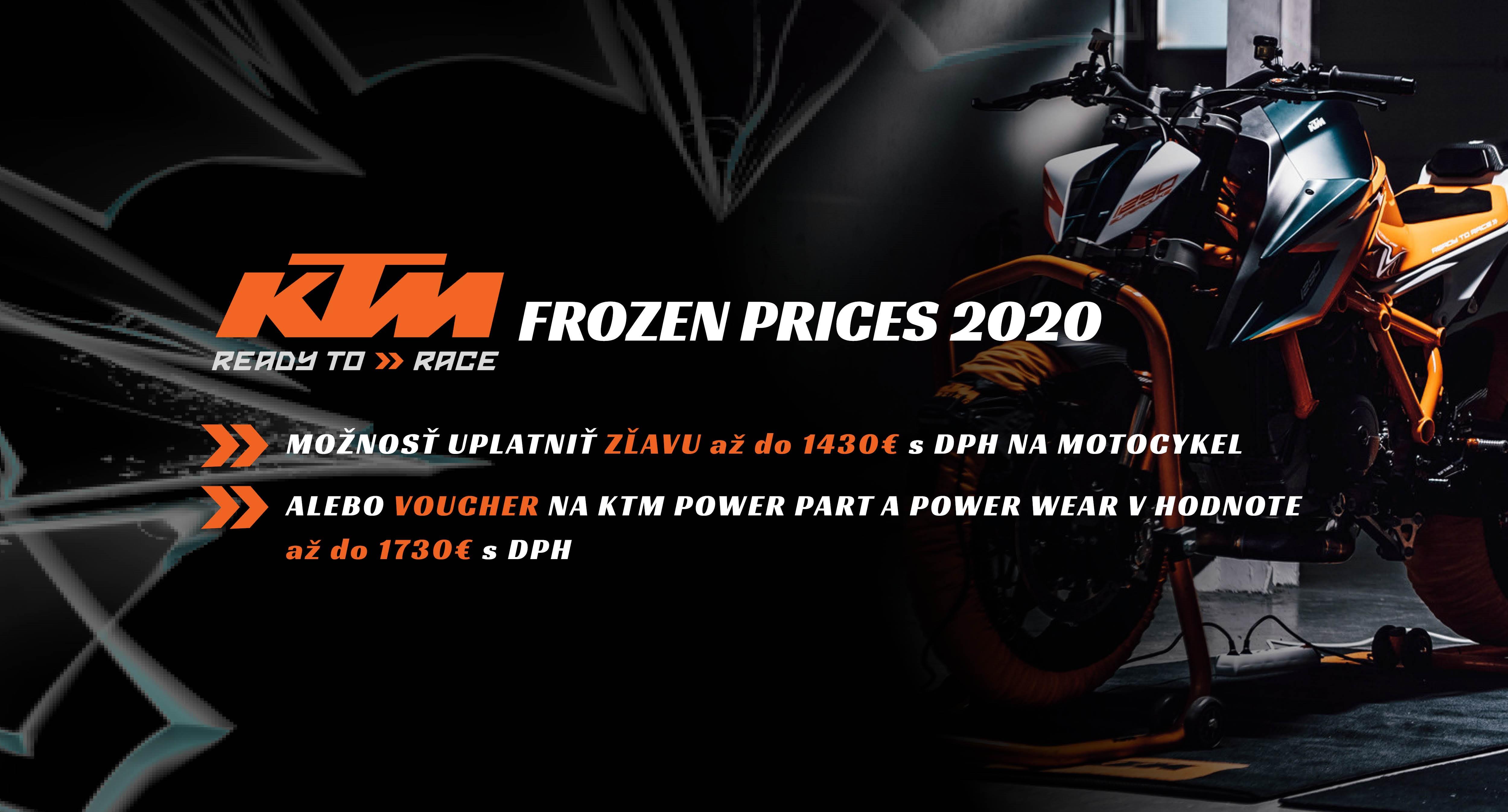AKCIA KTM FROZEN PRICES 2020